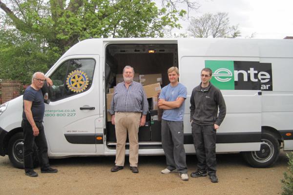 Donations arrive inEdinburgh