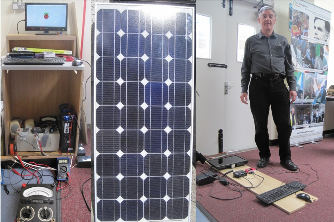 Prototype SolarBerry working in Edinburgh with Andrew Clark