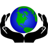 Icon of world held in hands