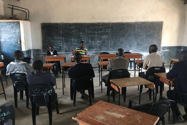 Meeting Community leaders in Choma