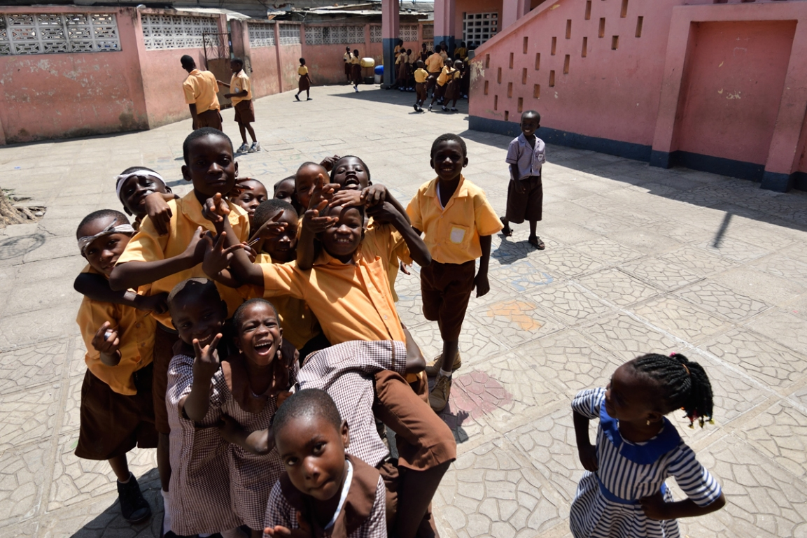 Children at Accra Royal School, Ghana
