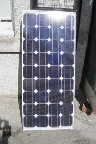 Solar Panel in Edinburgh sunshine