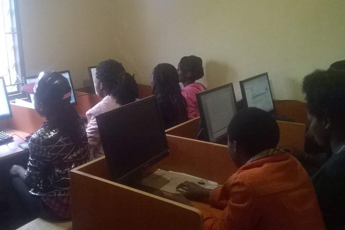 ICT training workshop for girls Mzuzu August 2017