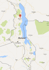 Malawi map to show Choma