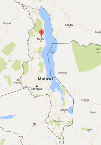 Malawi map to show Choma