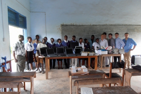 The first laptops at Afoako ICCES