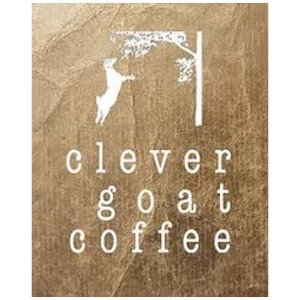 Clever goat coffee logo