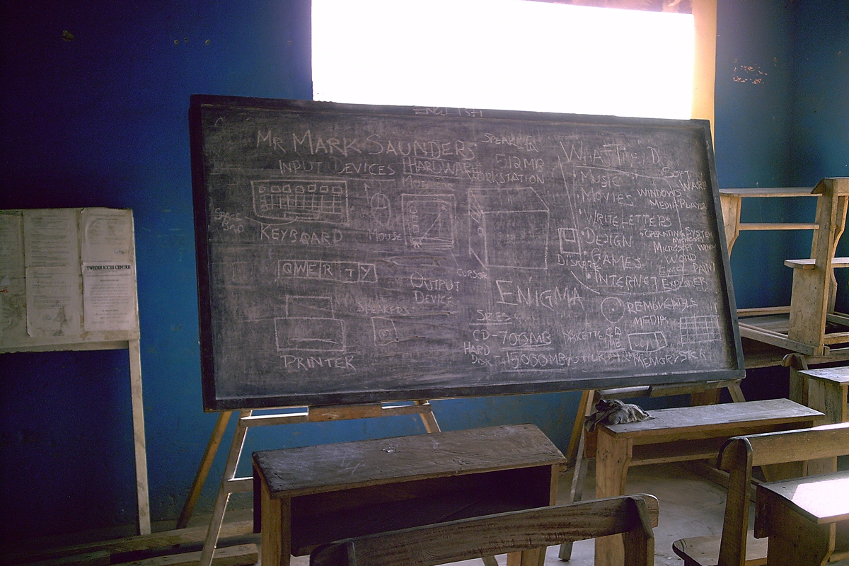 ICT taught on a blackboard