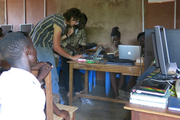 Setting up computers Ghana