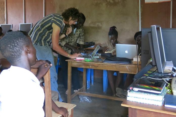 Setting up computers Ghana