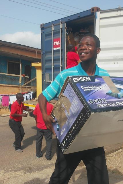 Unloading in Kumasi, Ghana