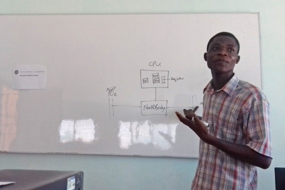 Sam training ICT teachers about computer repair