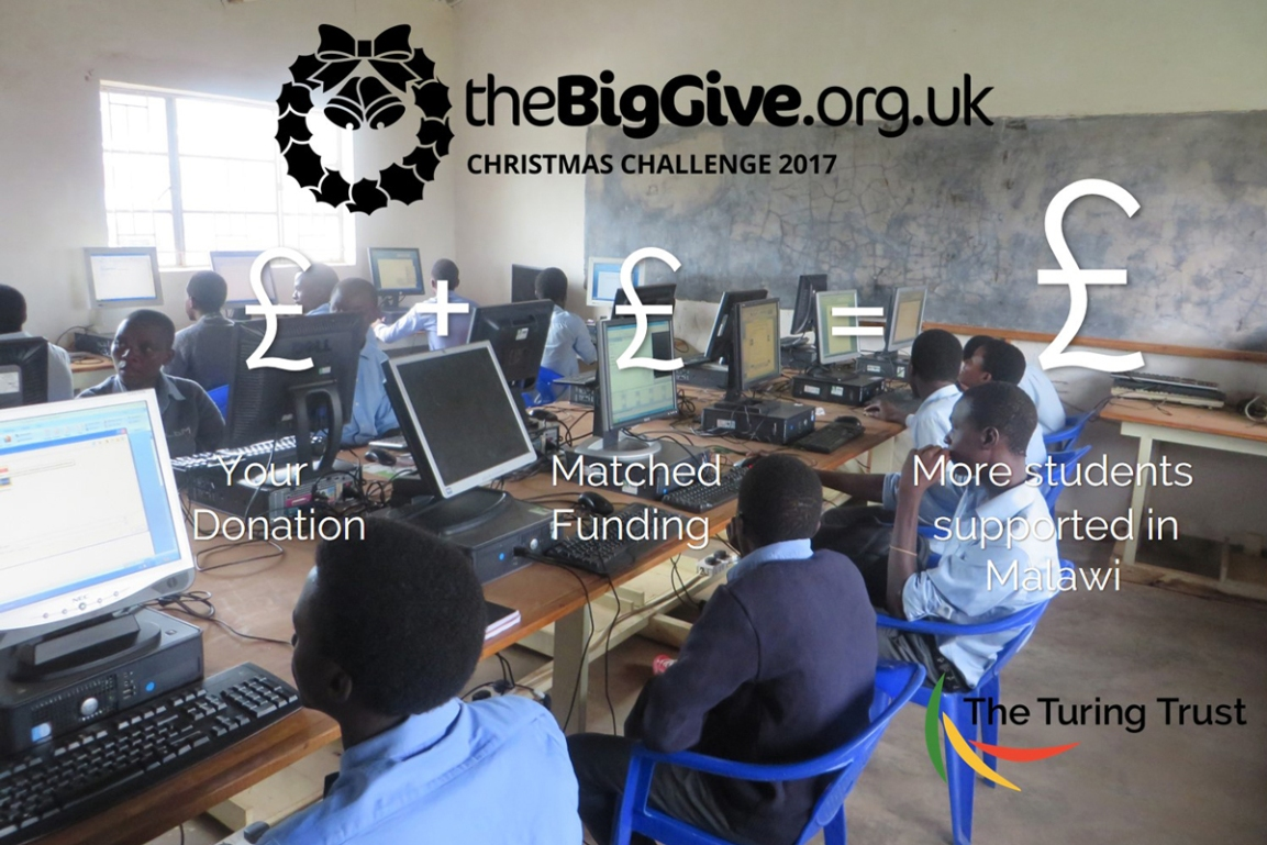 We're taking part in the Big Give's Christmas Challenge