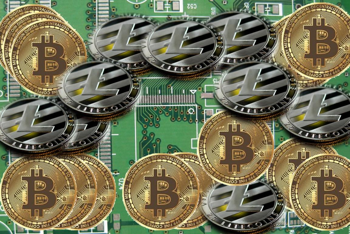Bitcoin and Litecoin donation icon