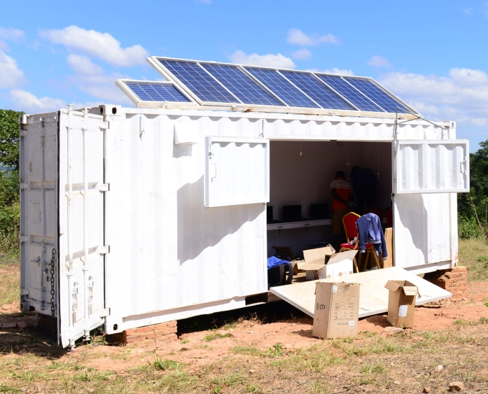 Solar panels fitted on the SolarBerry in Choma