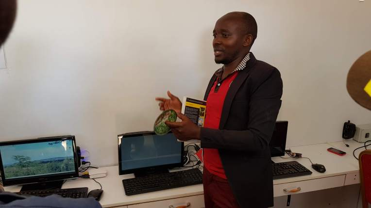 CYD Technician Vigilant giving a demonstration on how to use the SolarBerry