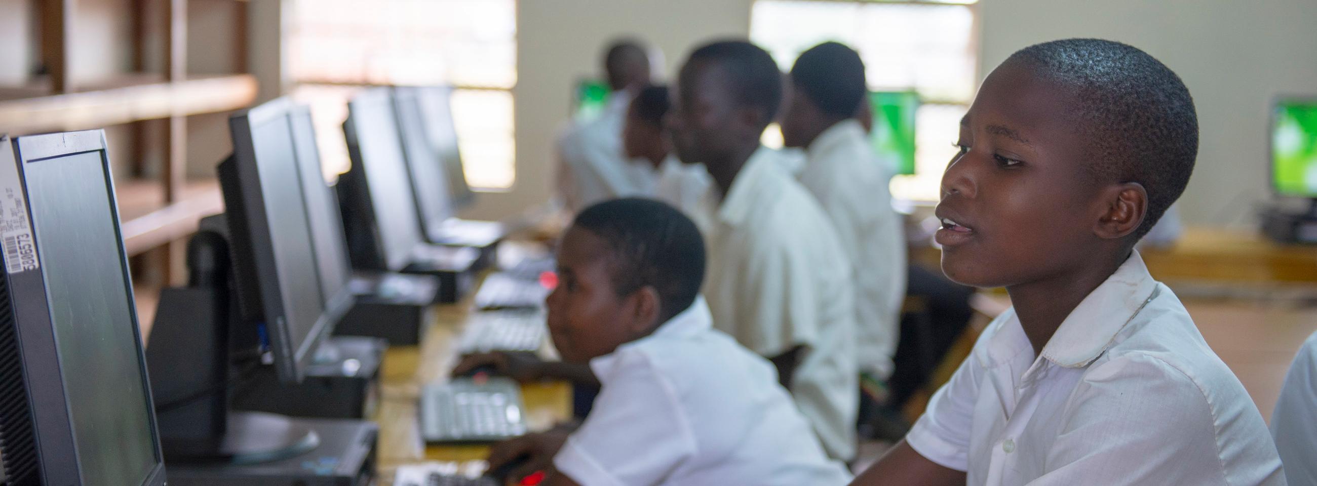 Computer laboratory, Nyungwe Community Day Secondary School, Malawi