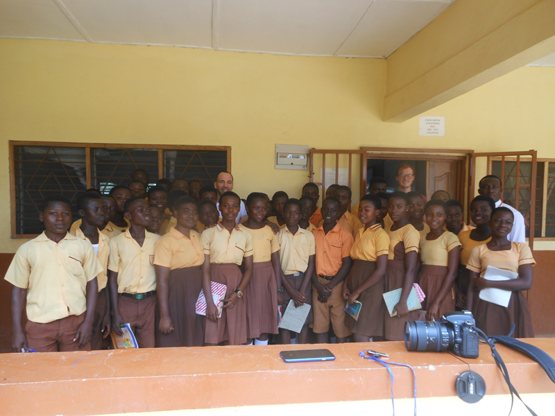Students at Prabon Junior High School, Ghana
