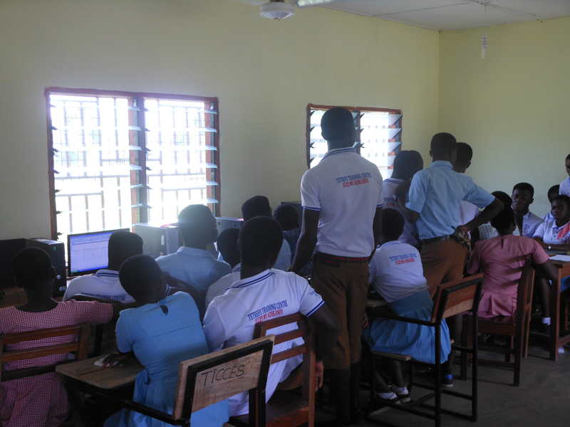Computer lab at Tetrefu ICCES, Ghana