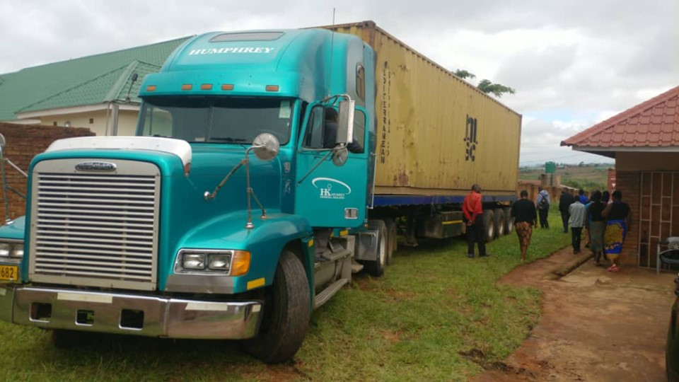 Container arrives at CYD, Mzuzu, Malawi