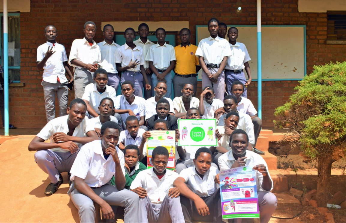 Code Club at Robert Laws Secondary School, Mzimba District, Malawi